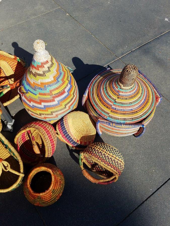 Mexicanska handpåsar på marknaden 4k royaltyfri bild