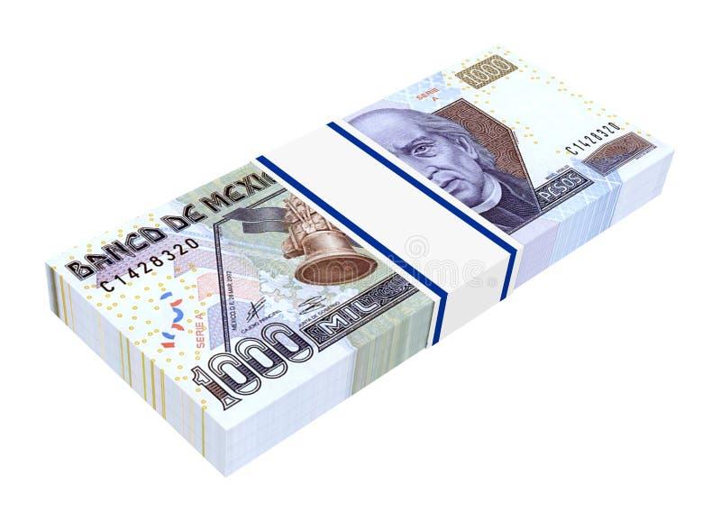 Mexicanska pesos som isoleras på vit bakgrund. vektor illustrationer