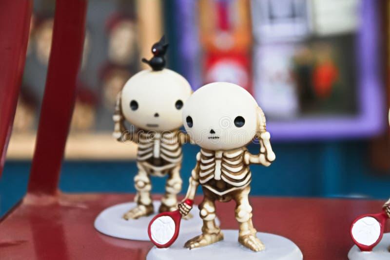 Mexicanska skelett- dockor arkivfoton