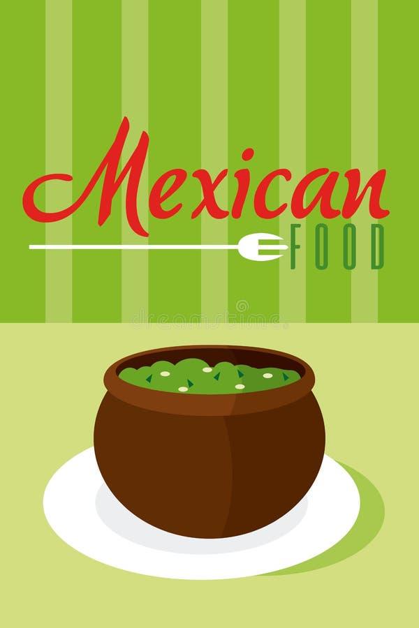 Mexicanskt matmenykort vektor illustrationer
