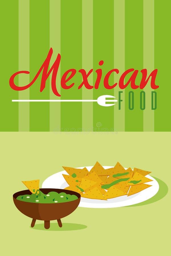 Mexicanskt matmenykort stock illustrationer