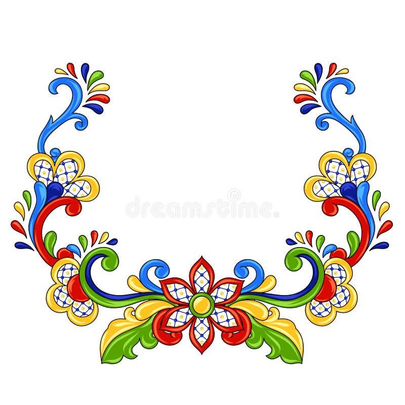 Mexicanskt traditionellt dekorativt objekt royaltyfri illustrationer