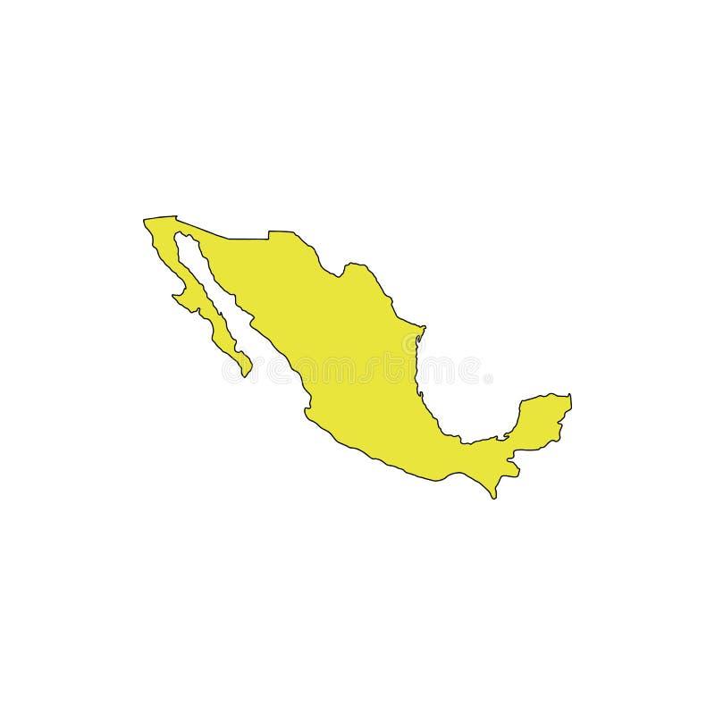 Mexico översiktssymbol royaltyfri illustrationer