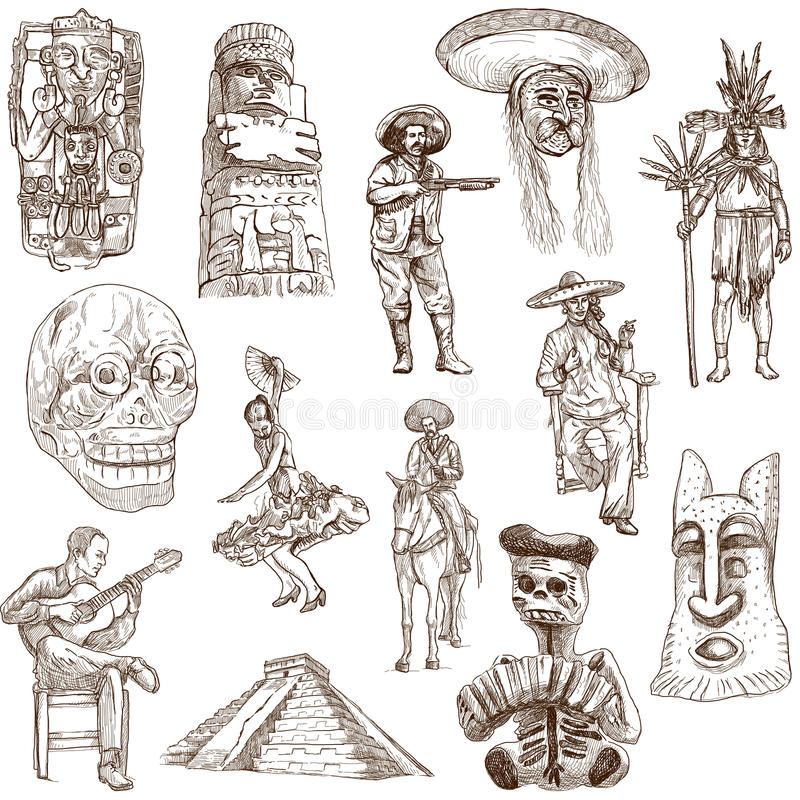 Mexico - 2 vector illustratie