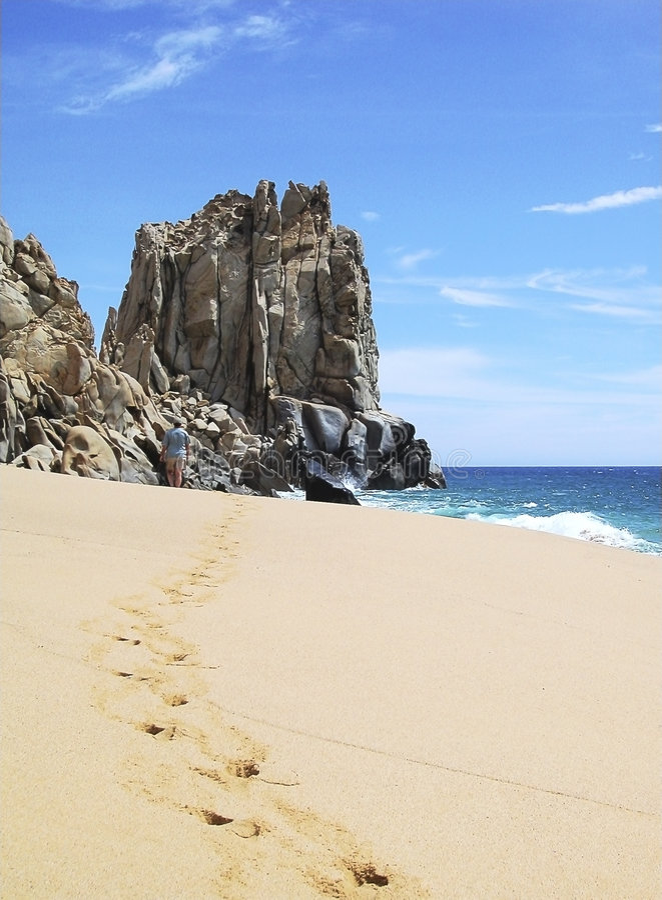 Mexico Beach Walk stock image