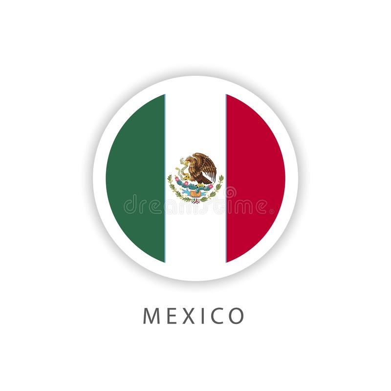 Mexico Button Flag Vector Template Design Illustrator vector illustration
