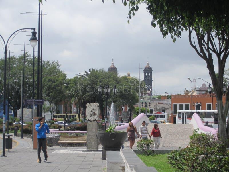 Mexico, centrum van de stad van Puebla stock fotografie