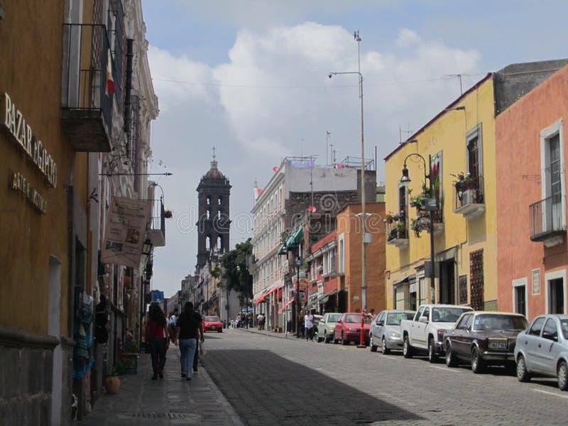 Mexico, centrum van de stad van Puebla stock afbeeldingen