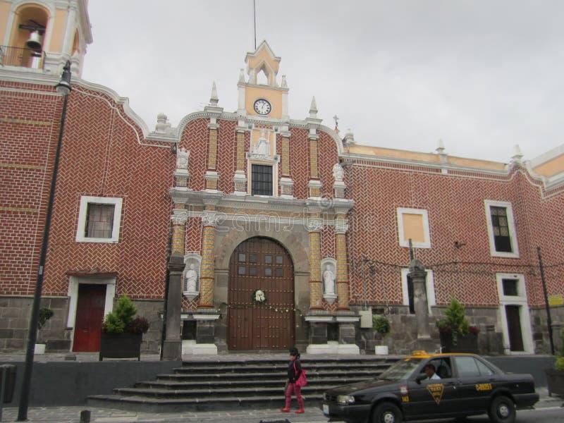 Mexico, centrum van de stad van Puebla stock afbeelding