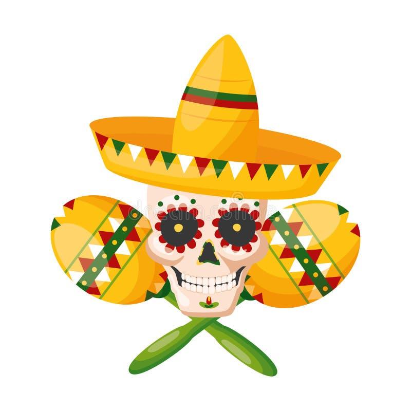 Mexico cinco de mayo royaltyfri illustrationer