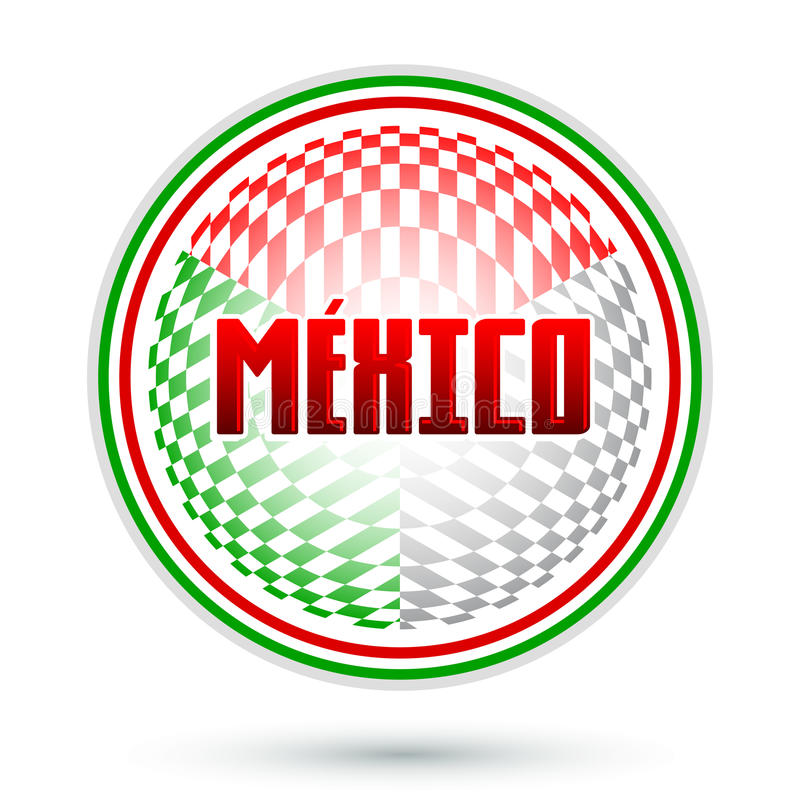 Mexico, Cirkel geometrisch ontwerp royalty-vrije illustratie