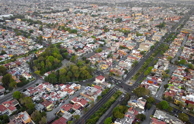 Mexico city. Aerial view from helicopter in Mexico DF royalty free stock photos