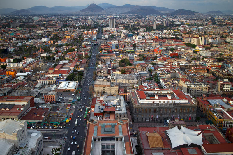 Mexico City Aerial View royalty free stock images