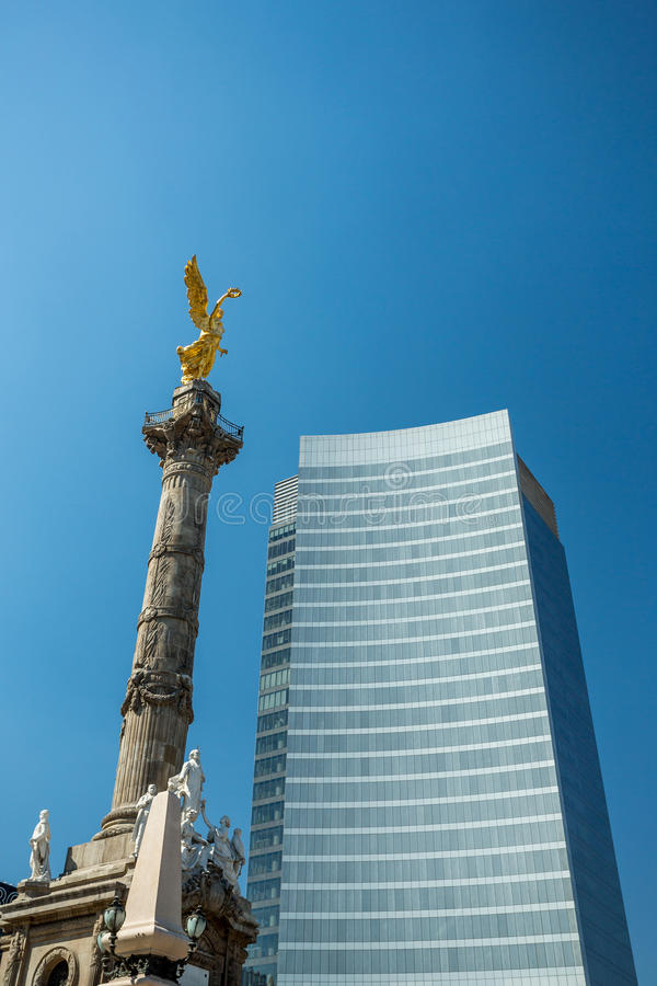 Mexico city Angel of Independence royalty free stock photos