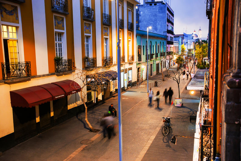 Mexico City is the capital of Mexico. Nightlife in Mexico City royalty free stock photos