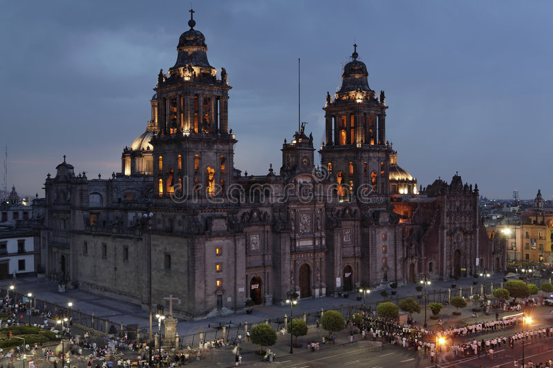Mexico City Cathedral stock photography