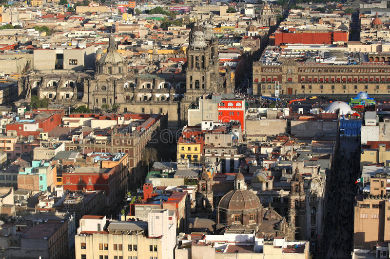 Download Mexico City Cathedral And Historic Buildings Stock Photo - Image: 18009456