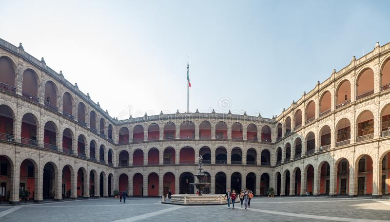National Palace in Mexico City, historical center zocalo. Mexico City, Central America, January 2018 [National Palace in Mexico City, historical center zocalo stock photo