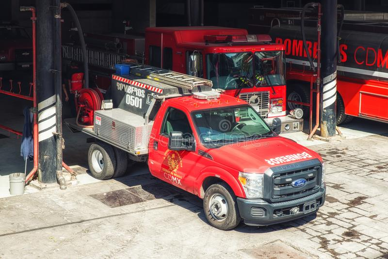 Fire engine trucks in Mexico stock images
