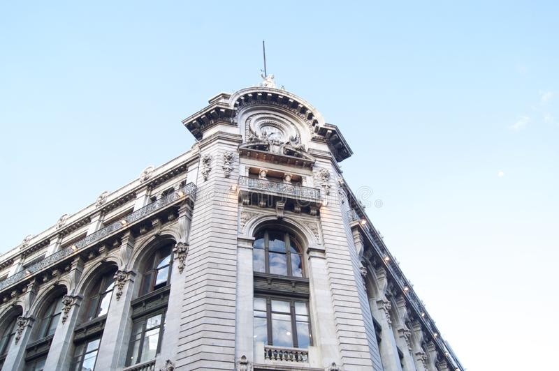 Mexico city  madero street. Downtown stock image