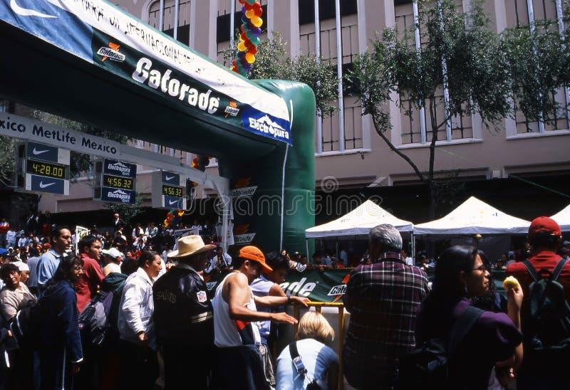 Mexico city marathon royalty free stock photography