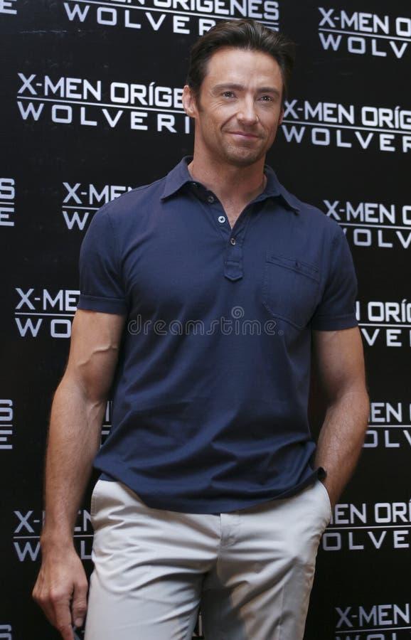 MEXICO CITY-MAY 26 2009: Actor Hugh Jackman stock photos