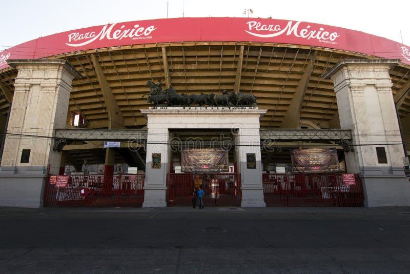 Plaza de Toros México. Mexico City, Mexico - 2019: Exterior view of Plaza de Toros México, the world`s largest bullring royalty free stock photography