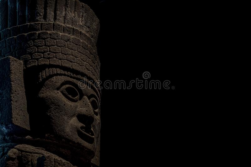 MEXICO CITY, MEXICO - JANUARY 31 2019 - mexico city anthropology museum. Is the largest and most visited museum in Mexico and contains significant royalty free stock photo