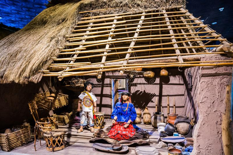 Mexico City, Mexico - November 1, 2018. National Museum of Antropology. Museo Nacional de Antropologia stock photo