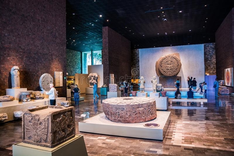 Mexico City, Mexico - November 1, 2018. National Museum of Antropology. Museo Nacional de Antropologia stock photography