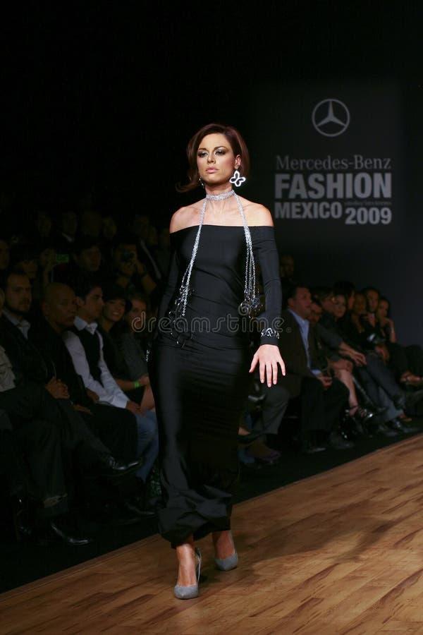 MEXICO CITY A model walks the runway royalty free stock photos