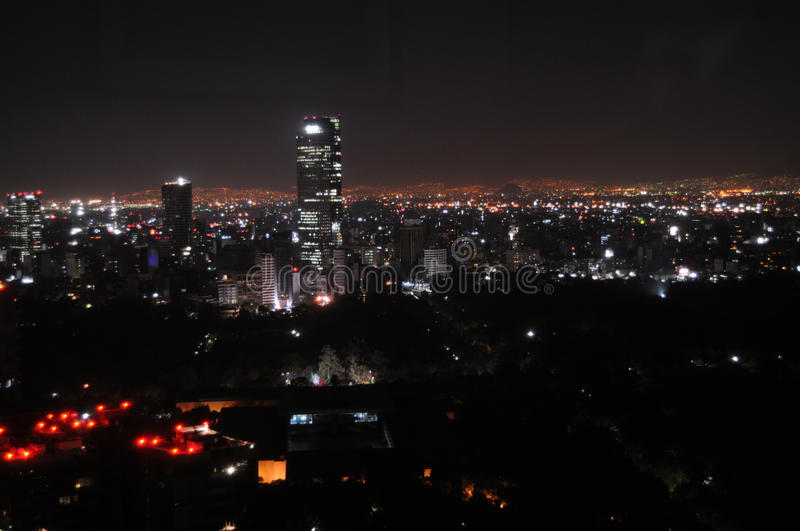 Download Mexico City at night stock photo. Image of downtown, boom - 20150014