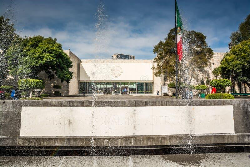 Mexico City, Mexico - November 1, 2018. Entrance to National Museum of Antropology. Mexico City, Mexico - November 1, 2018. National Museum of Antropology, Museo stock images