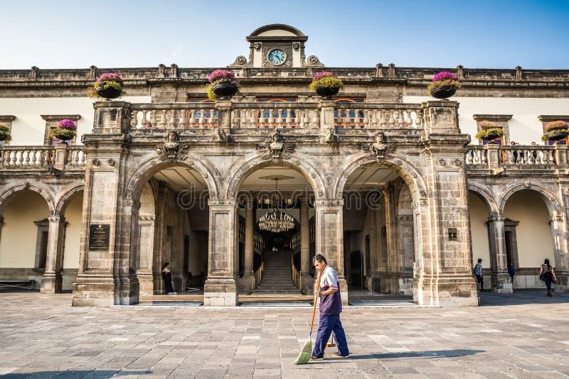 Mexico-City, Mexico - Oktober 25, 2018 Het Kasteel van Chapultepec royalty-vrije stock foto's