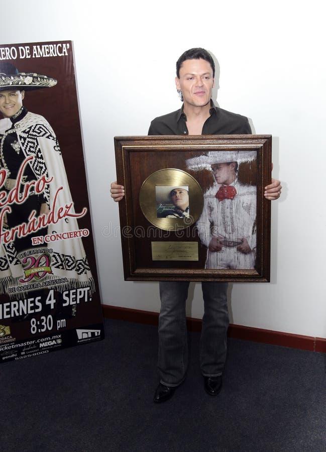 MEXICO CITY Singer Pedro Fernandez stock image