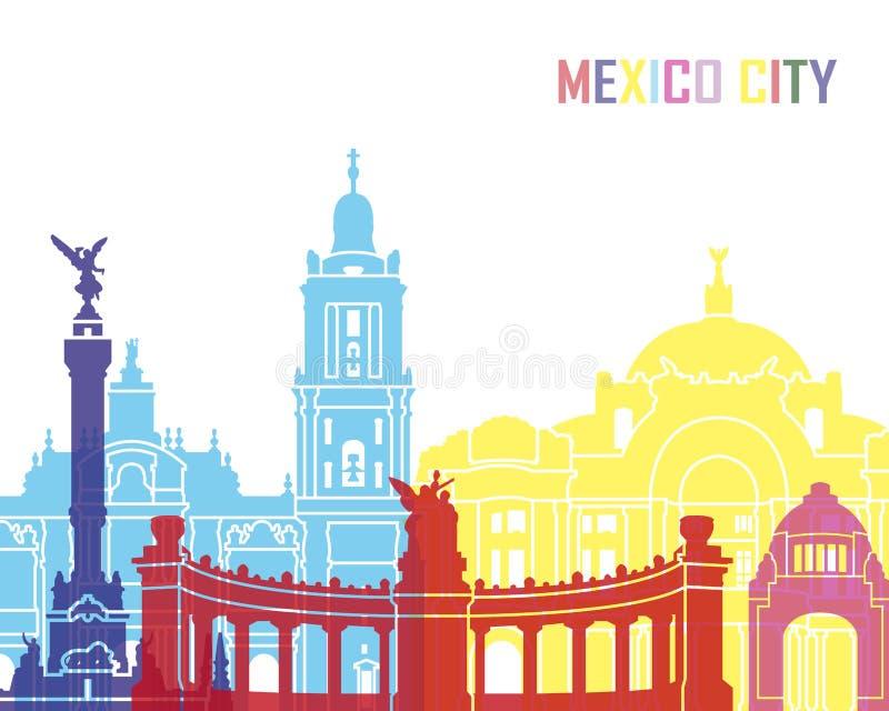 Mexico City skyline pop vector illustration