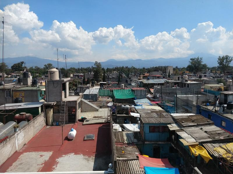 Mexico City Slums royalty free stock image