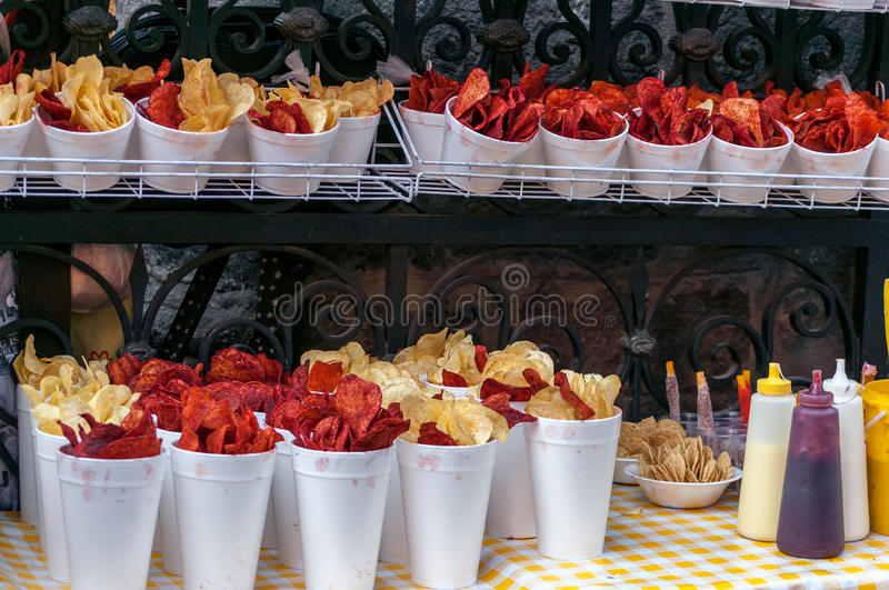 Mexico City Street Food stock image