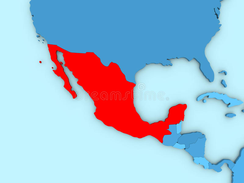 download mexico on 3d map stock illustration illustration of country 86431413