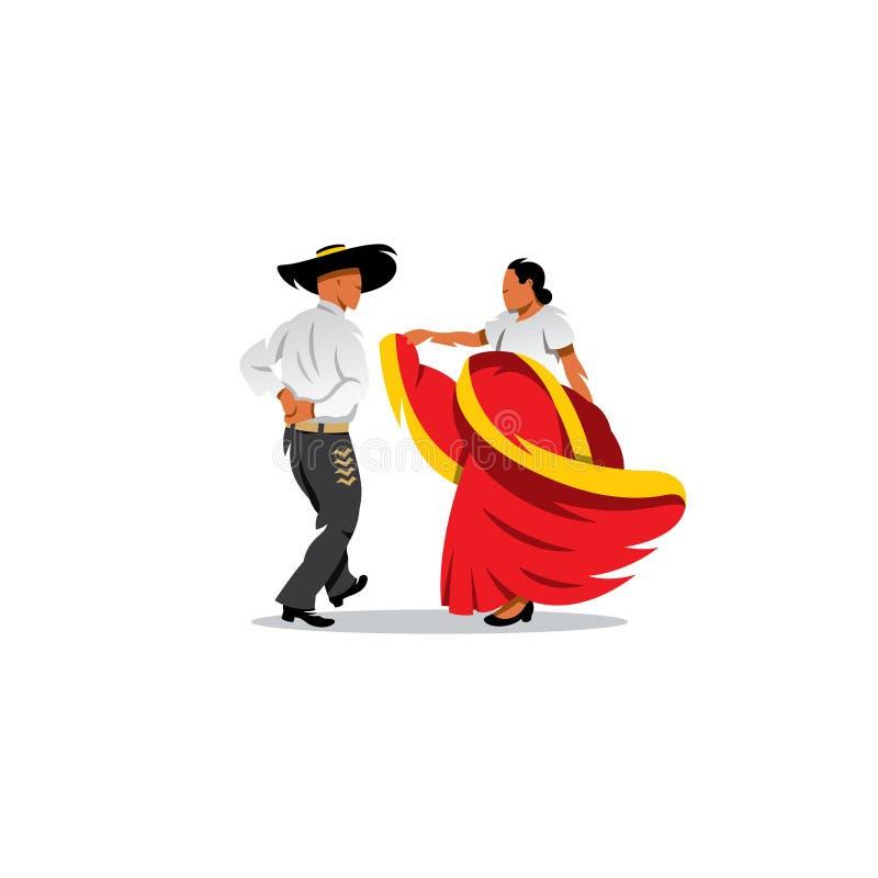 Mexico Dancers Participates at the Cinco De Mayo vector illustration