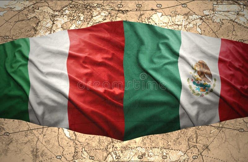 Mexico en Italië vector illustratie