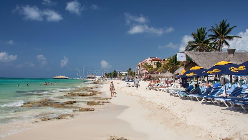 mexico för strandcarmemdel playa yucatan royaltyfri fotografi