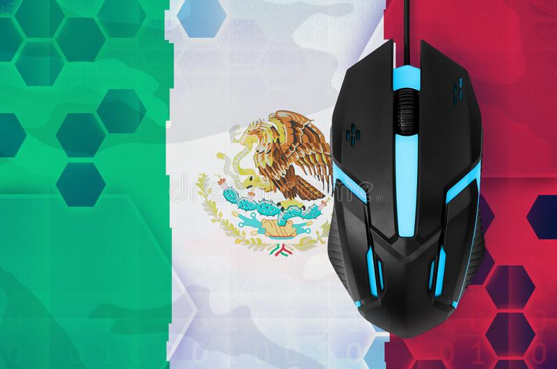 Mexico flag and computer mouse. Concept of country representing e-sports team royalty free illustration
