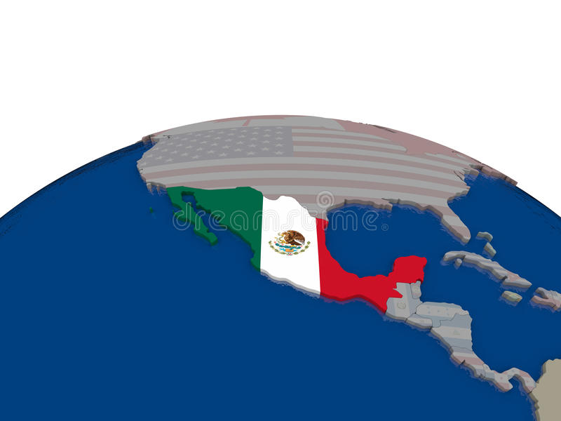 Download Mexico with flag stock illustration. Image of political - 83717742