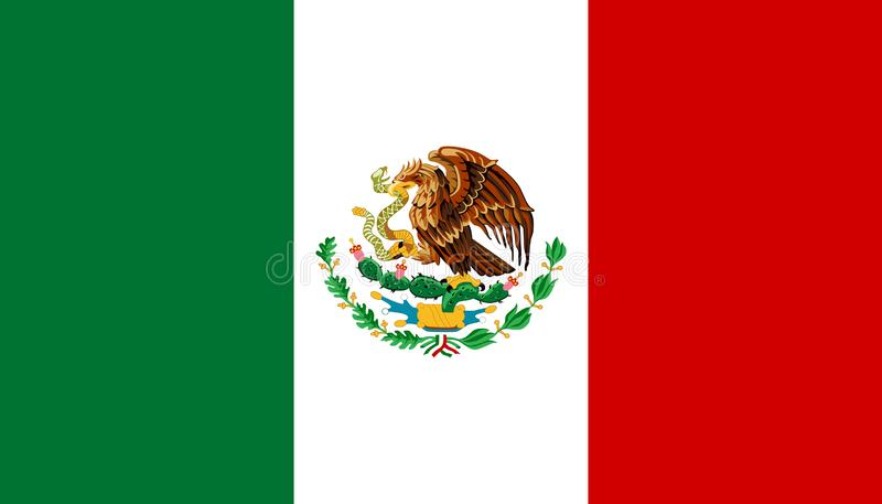 Mexico flag vector iluustration. Mexican national symbol image. traditional official colors. correct proportions vector illustration