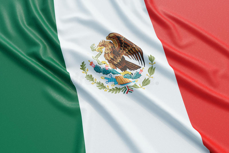 Mexico flag royalty free illustration