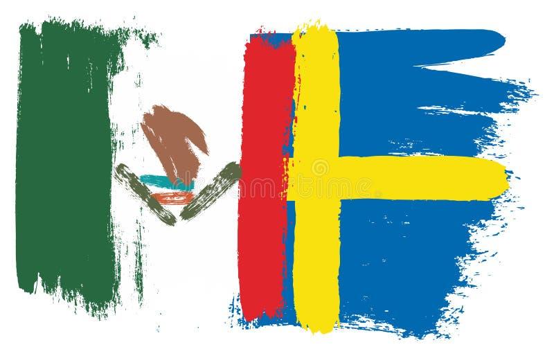 Mexico flagga stock illustrationer
