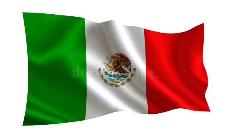 Mexico flagga En serie av `-flaggor av världen ` Landet - Mexico flagga vektor illustrationer