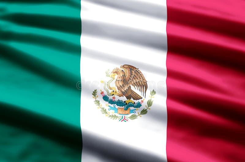 Mexico flaggaillustration vektor illustrationer