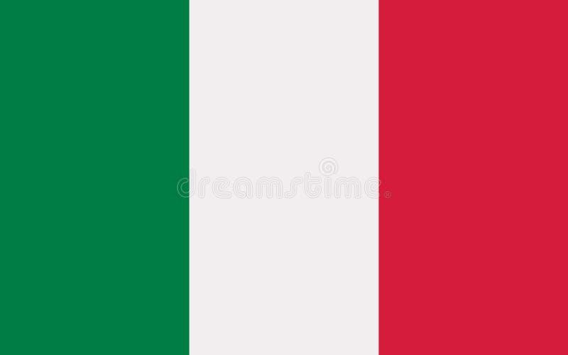 Mexico flaggavektor vektor illustrationer